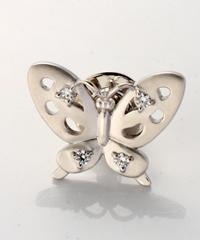 SVジルコニアピンブローチ(蝶)