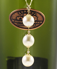 K14WG南洋真珠ダイヤペンダントネックレス